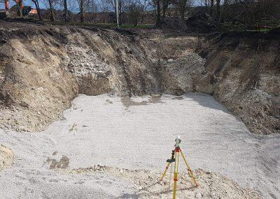 Bygningsafsætning - udgravning